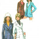 Misses Suit Jacket Blazer Sewing Pattern Single Double Breasted Sz 10 70s Fitted Wide Lapel 9610