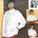 Vogue Button Front Blouse Sewing Pattern 14-18  Loose Shirt Short Long Sleeve Todd Oldham 2873