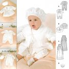 Layette Sewing Pattern Baby NB-12 month Christening Dedication Baptism Romper Gown Hat Jacket 9944