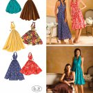 Halter Dress Sewing Pattern Plus 14-22 Prom Formal Evening Party Bubble Flared Skirt 3823