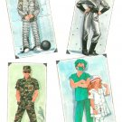 Halloween Costume Sewing Pattern Child Spaceman Prisoner Nurse Soldier Doctor 10/12 8890