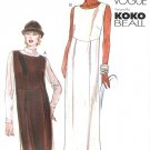 Koko Beall Dress Pattern Vogue 12-16 Easy Ankle Above Knee Jumper Raised Waist Straight 7314
