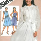 Spaghetti Strap Dress Sewing Pattern 9 10 Lace Slip Overlay Prim 80s Vintage 9902