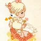 Precious Moments Embroidery Kit God Is Love Girl Goose 12 x 16 Vintage