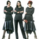 Flapper Skirt Pants Top Sewing Pattern Hi-low Cowl Neck Pullover Easy 6-14 5858