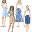 A-line Skirt Easy Shorts Sewing Pattern 8-16 Straight Semi Fitted Long Short 5649