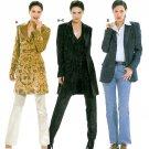Suit Jacket Sewing Pattern 12-24 Plus Tailored Long Below Hip Lined Coat Vest 8300