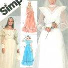 Vintage Wedding Dress Sewing Pattern 10 Bridal Hippie Off Shoulder Gunne Sax 5217