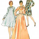 Shift Dress Sewing Pattern Sz 12 Maxi Mini 70s Vintage Loose Fit Long Sleeve 6071
