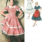 Square Dance Dress Sewing Pattern 14 Western Costume Folk Fiesta Ruffles Apron Vintage 9103