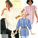 Tunic Shirt Sewing Pattern 18/20 Plus Button Front Kimono Sleeve Ruffle Shirt Vintage 3408