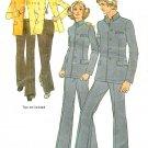 Leisure Suit Sewing Pattern Sz 40 Unisex Unlined Jacket Pants Vintage 5285