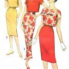 50s Vintage Sewing Pattern Sz 10 High Waist Pant Skirt Overblouse Slim Fit Boxy Top 2998