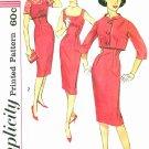 50s Sheath Dress Sewing Pattern Sz 11 Crop Bolero Jacket Slim Fit Jackie O 3062