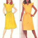 Wrap Dress Sewing Pattern Sz 10 Ruffle Sleeve Vintage Disco Mod Below Knee 4387