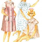 Vintage Baby Doll Gown Pajama Sewing Pattern 10/12  Nightgown Brunch Coat Housecoat Bloomer  5649