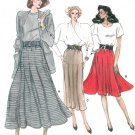 Vintage Vogue Skirt Sewing Pattern 18-22 Plus Flared Straight Elastic Waist 7046