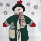 Snowman Fabric Panel Jack Snow 15 Inch Plush Stuffed Christmas Holiday Decor Cranston