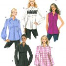 Vogue Sewing Pattern Princess Seam Shirt 16-22 Plus Button Front Long Short Sleeve 8598