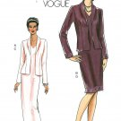 Vogue Jacket Dress Sewing Pattern 8-14 Long Short Sleeveless Formal Evening Career 8188