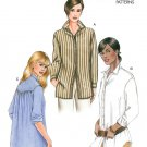 Vogue Button Front Shirt Sewing Pattern 12-16 Loose Fit Tunic Top Long Sleeve 7700