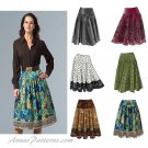 Vogue Sewing Pattern 14-20 Plus Flared Skirt Yoke Knee Length Side Zipper 8295