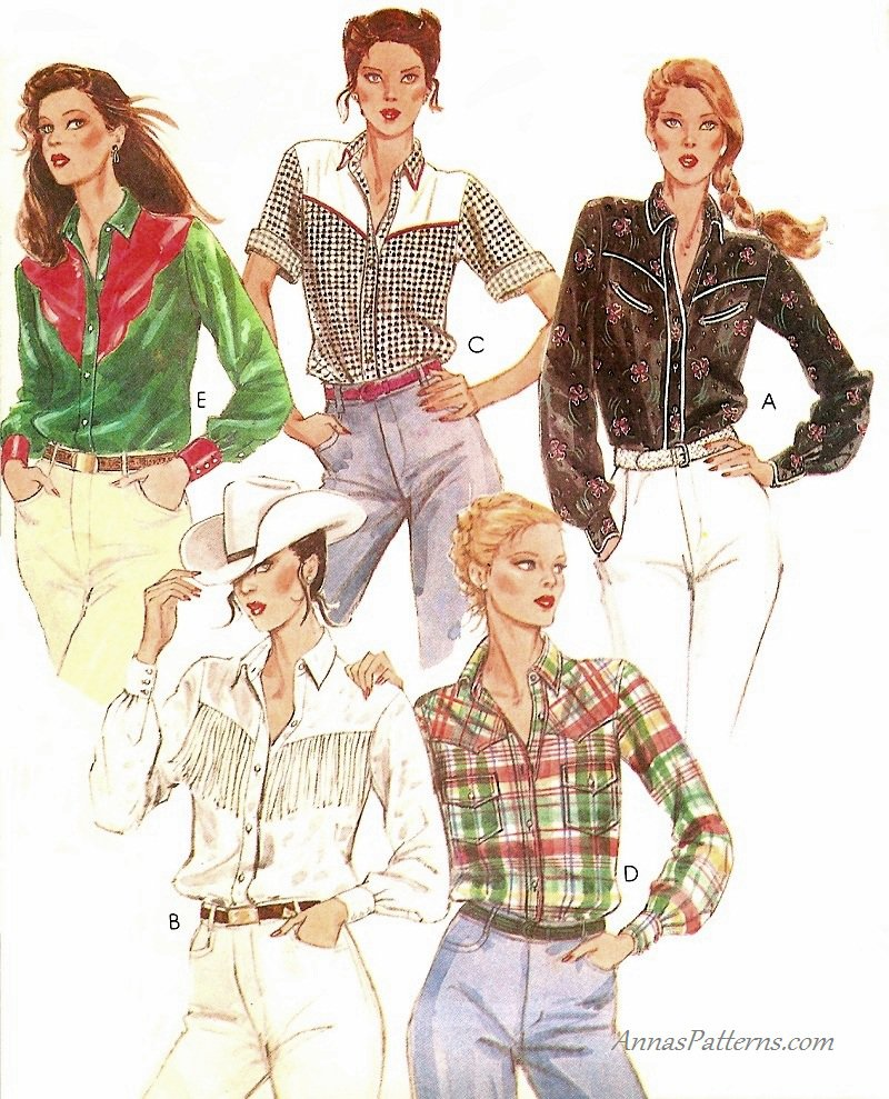 Misses western shirt sewing pattern 12 rockabilly cowgirl fringe misses western shirt sewing pattern 12 rockabilly cowgirl fringe yoke button front 6938 jeuxipadfo Images
