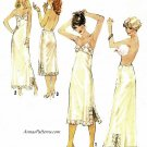 Misses Dress Slips Sewing Pattern Sz 10 Half Full Lace Below Knee Ankle Vintage 70s 8862