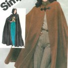 Unlined Cape Sewing Pattern 10/12 Vintage Easy Hood Knee Ankle Length Capelet 5199