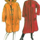 Loose Coat Sewing Pattern 10/12 Easy Unlined Rain Jacket Hat Button Toggle 2 Lengths Vintage 8443