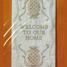 Colonial Pineapple Welcome To Our Home Candlewick Kit Vtg Wall Hanging Wood Hanger Creative Circle