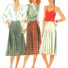 Pleated Skirt Sewing Pattern Kilt Sz 8 Vtg Wrap Below Knee Length A-line 6790