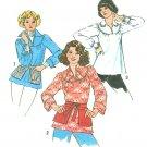 Smock Top Sewing Pattern 8-10 70's Pullover Yoke Tunic Motif Peasant Blouse Long Sleeve 7397