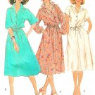 Shirt Dress Sewing Pattern 12 Easy Kimono Sleeves Vintage 70s Yoke Button Drawstring Waist 6422