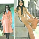 Unlined Crop Jacket Bell Bottom Pant Sewing Pattern Sz 10-14 Vtg Pantsuit Skirt Overcoat Button 4636