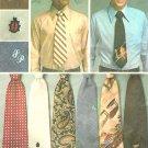 Mens Wide Necktie Sewing Pattern 4 1/2 Inch Groovy Tie 1970s Tranfers Funky Menswear 7209