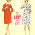 Maternity Dress Sewing Pattern Vintage Sz 10 Knee Length 1960s Peter Pan Collar High Yoke 4226