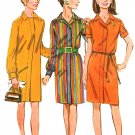 Retro Mod Shirtdress Sewing Pattern Sz 10 Easy 60s Dress Zip Front Above Knee 7298