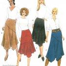 Asymmetrical Skirt Sewing Pattern 12-18 Bias Below Knee Flared Trendy Mod 4153