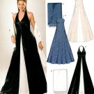Evening Gown Sewing Pattern 6-16 Prom Formal Dress Halter Strapless Contrast Gore 6318