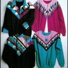 Sweatshirt Jacket Quilting Pattern Evening Star Seminole Patchwork