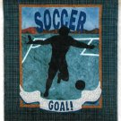 Soccer Player Wall Quilt Pattern Easy 22 x 26 Goal Ball Score Sports