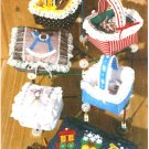 Fabric Box Basket Sewing Pattern Easy Applique Rocking Horse Train Baby Craft Gift
