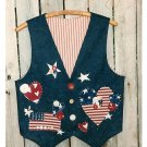 Stars Stripes American Flag Vest Sewing Pattern Applique Hearts Patriotic Fourth Of July USA
