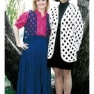 Open Lattice Vest Jacket Sewing Pattern Easy S-L Charlotte's Original Design Uncut