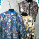 Patchwork Sweatshirt Pattern Instructions DIY Jacket Pullover Vest Pieced Stitched Mosaic