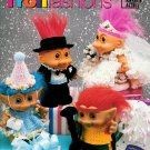 Troll Doll Fashions Crochet Designs Patterns Bride Groom Birthday Elvis Ballerina Hippie Swimsuit