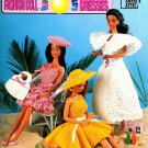 Crochet Sun Dresses Patterns Barbie Fashion Doll Hats Beach Halter Popcorn Annies Attic