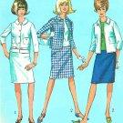 Cropped Jacket Skirt Sewing Pattern Sz 12 1960s Jackie O Prim Suit Knee Length 6320
