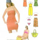 Beach Clothing Sewing Pattern 8-18 Bkini Cover Up Harem Romper Clam Digger Terry Cloth 5008